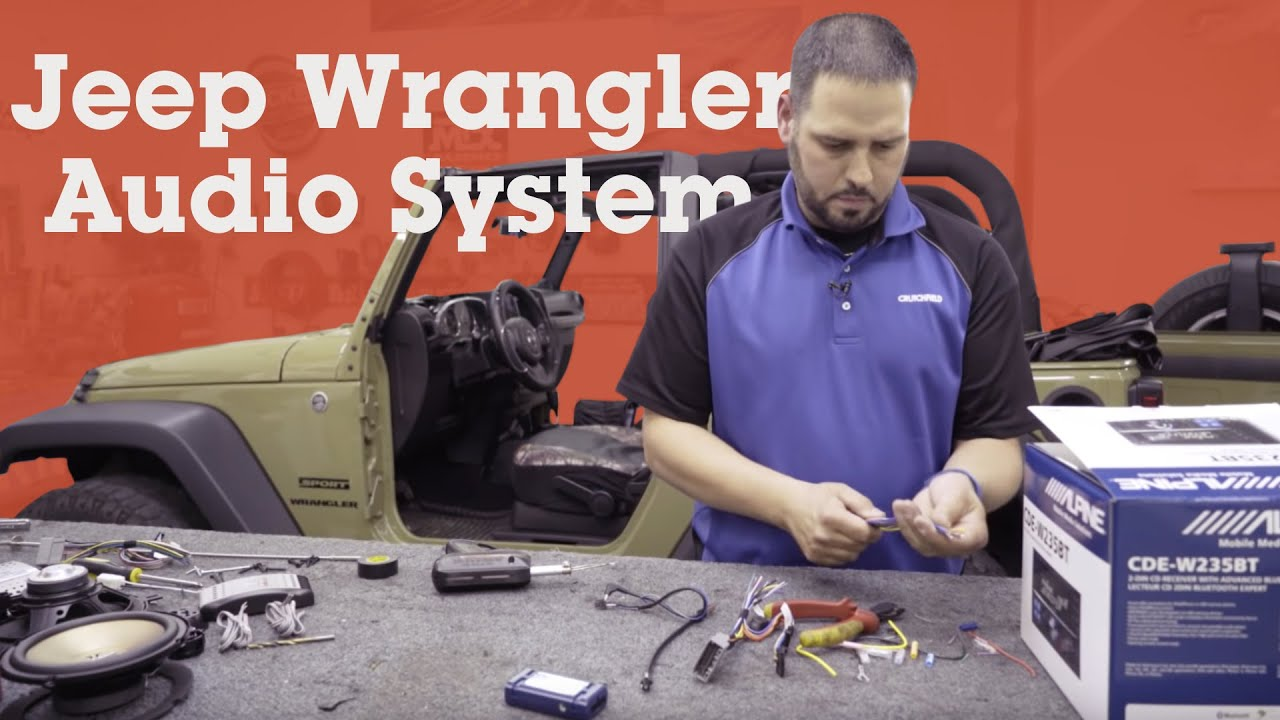 How To Install A Stereo And Component Speakers In A 2013 Jeep Wrangler Crutchfield Video Youtube