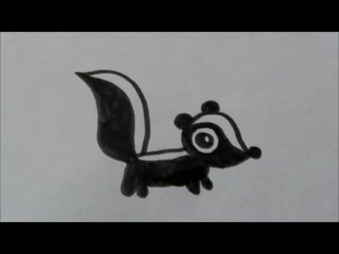Cartoon Stinkdierskunk Leren Tekenen 34 Youtube