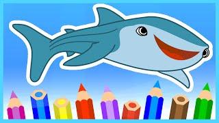 В ПОИСКАХ ДОРИ. Рисуем акулу. Finding Dory. Как нарисовать акулу Судьба. Дестини. Destiny Shark