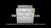 Washer Top Load Not Spinning - Repair & Diagnostic- GE, General