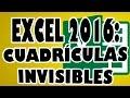 EXCEL 2016: Celdas o Cuadrículas invisibles en una Hoja Excel.