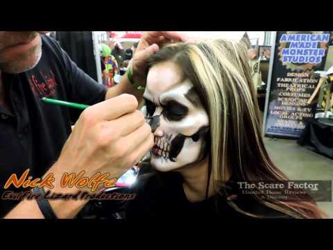 Skull Makeup Demonstration By Nick