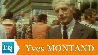 "Yves Montand tourne ""I Comme Icare"" d"