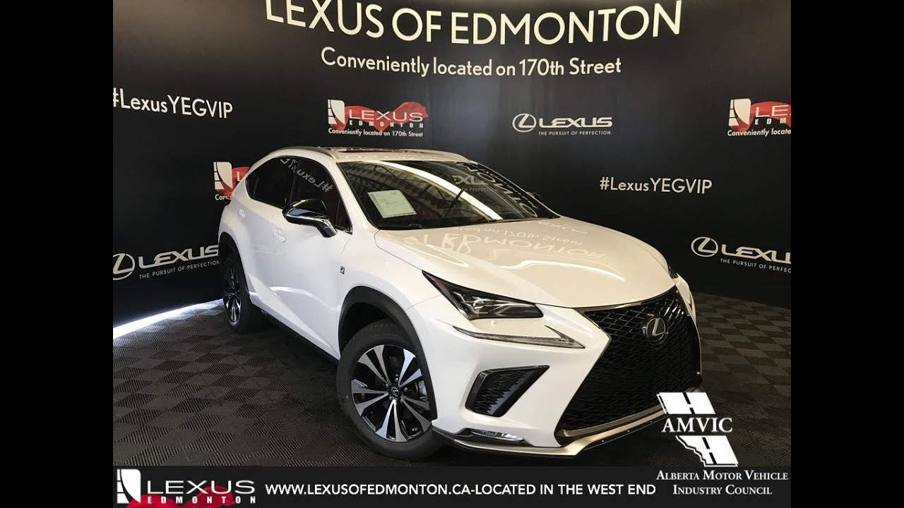 white 2019 lexus nx 300 f sport series 3 review north edmonton alberta
