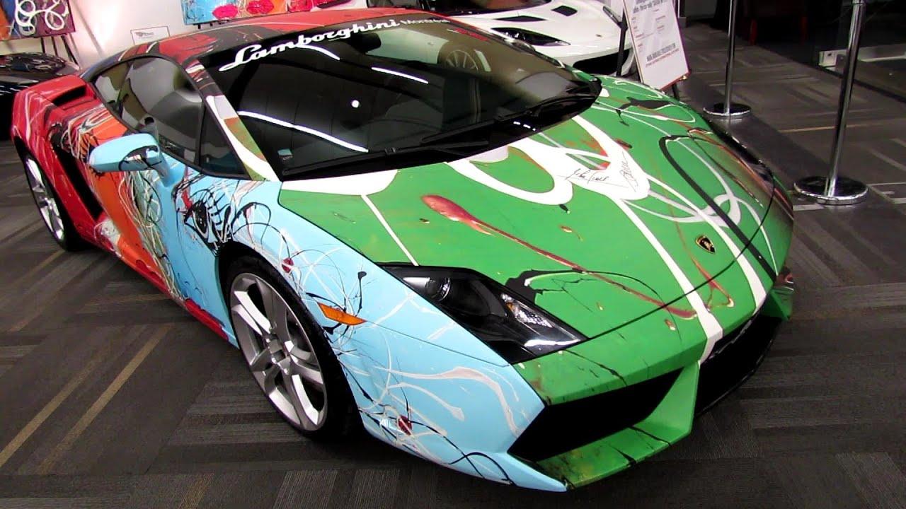 Lamborghini aventador custom paint