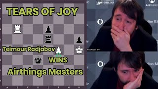 Teimour Radjabov Cries after winning the Airthings Masters | Tears of Joy |