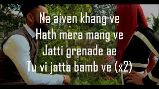 BAMB JATT LYRICS   Amrit Maan   Jasmine Sandlas   Latest Punjabi Songs 2017