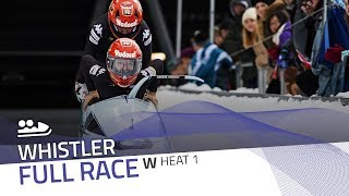 Whistler | BMW IBSF World Cup 2017/2018 - Women's Bobsleigh Heat 1 | IBSF Official
