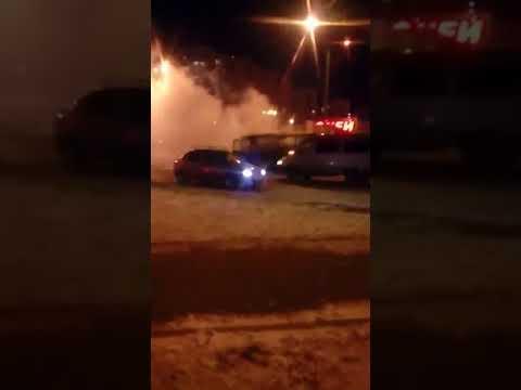 Оренбург. Сгорел маршрутный ПАЗ. 14 декабря.