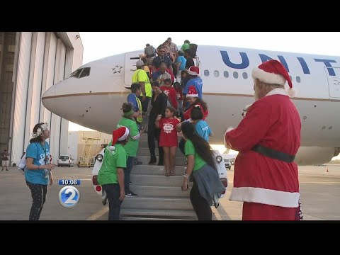 Keiki take holiday-themed fantasy flight to meet Santa on