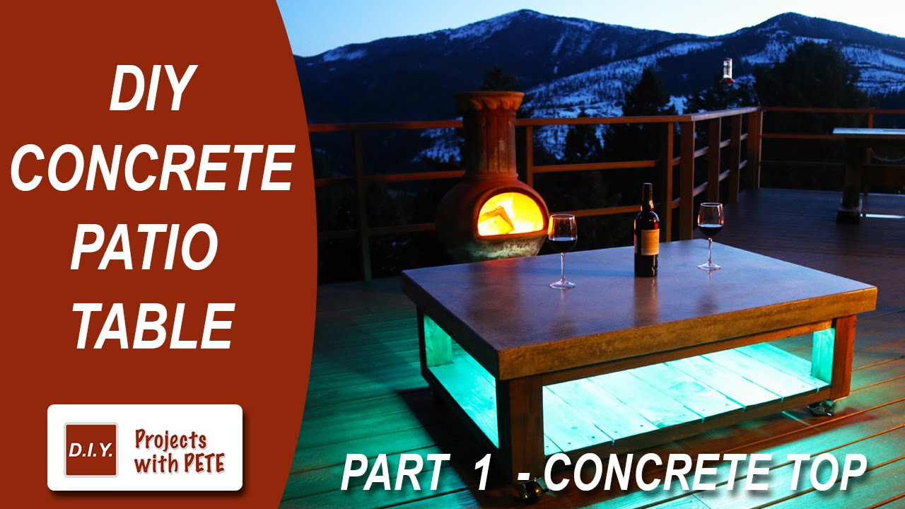 part 1 how to make a concrete coffee table for the patio concrete rh youtube com  diy outdoor patio coffee table