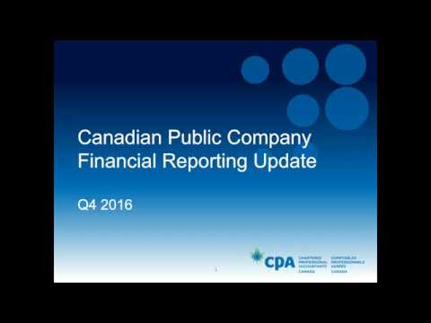 Canadian public company financial reporting update: Q4 2016
