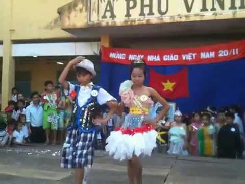 bieu dien thoi trang truong tieu hoc a phu vinh nam 2013-2014
