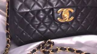Review of Authentic Vintage CHANEL Leather Jumbo Lambskin Bag - FOR SALE!