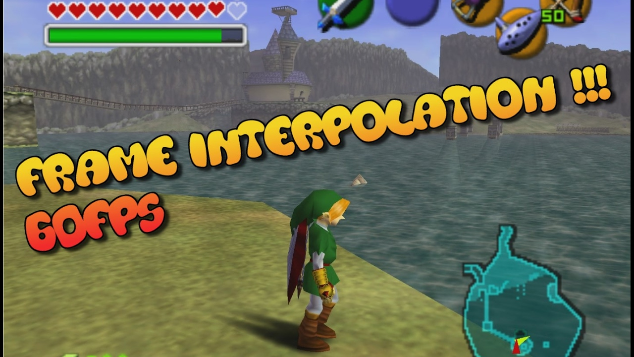 Zelda Ocarina of Time 60FPS Frame Interpolation testing on lake Hylia