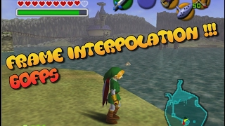 Zelda Ocarina of Time 60FPS Frame Interpolation testing on lake Hylia