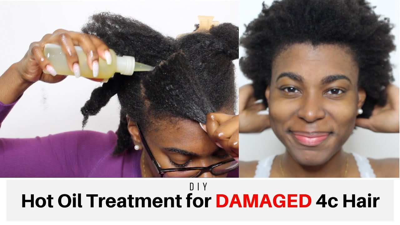How To Step By Hot Oil Treatment On 4c Natural Hair Prevent Breakage Repair Damaged
