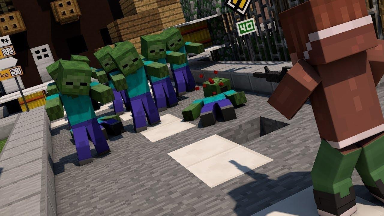 смотреть зомби апокалипсис в майнкрафт #3