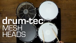 drum-tec mesh heads for electronic drums: See & hear the differences!