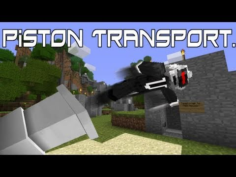 How To Make A Dog Elevator With Pistons Minecraft