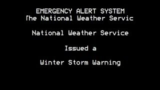 Winter Storm Warning EAS: Bismark, ND || 3-4-18