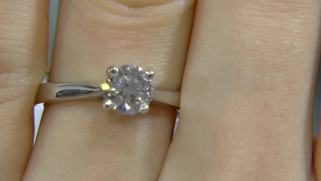 0 80ct Round Cut Diamond Solitaire Engagement Ring Dr019 Youtube