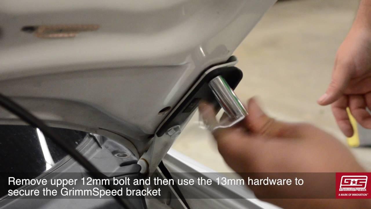 GrimmSpeed High-Lift Hood Strut Install - 03-08 Subaru Forester