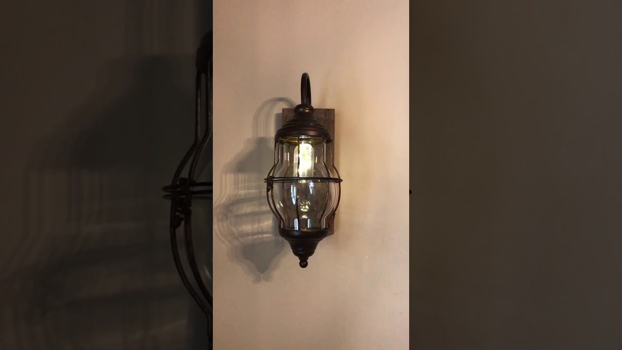 Wall Sconce Light Fixture Farmhouse And Barnyard Decor Rustic Industrial Metal Distressed Plug In Led Light Wooden Wood Decor Steals