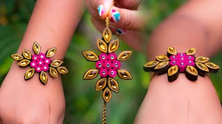 how to make paper rakhi | Quilling paper |rakhi making |handmade rakhi tutorial |Crafty Butterfly041