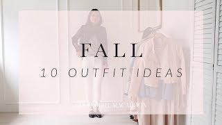 10 Ways to wear white jeans for Fall | Outfit of the Week 2017 | GOODNIGHT MACAROON