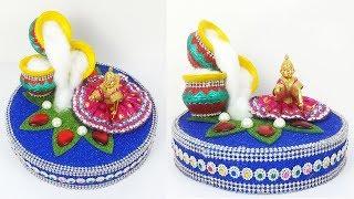 Easy Janmashtami Decoration Idea - How to Decorate Krishna Temple at home , Ganpati decoration Home