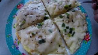 Завтрак на лаваше/За 10 минут/Яичница на Лаваше с сыром