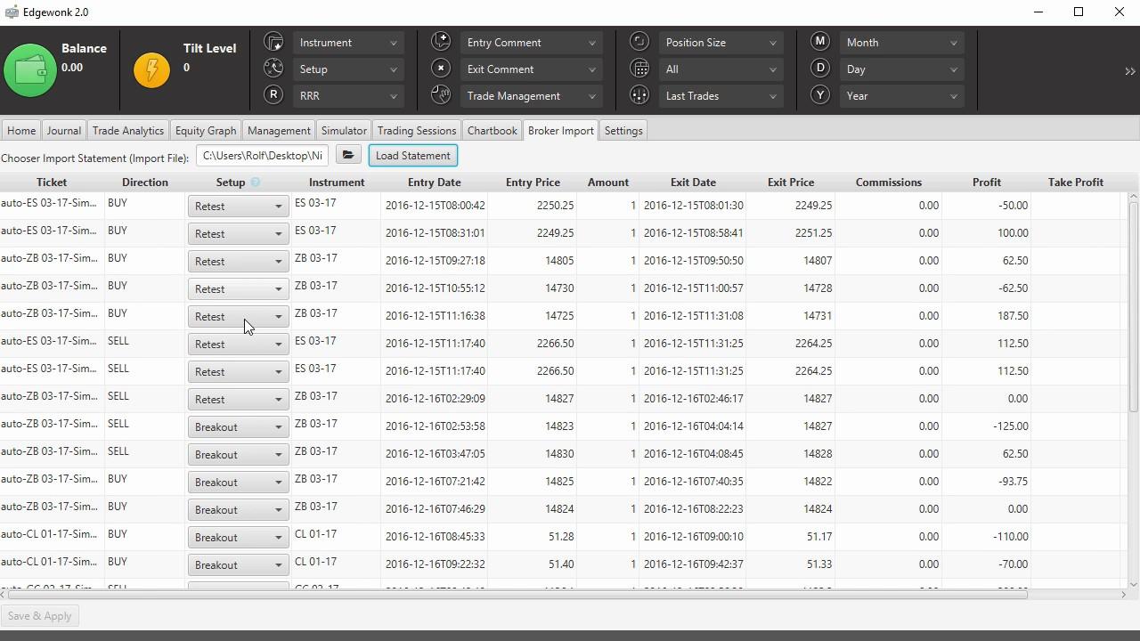 Edgewonk 2 0 | Edgewonk's Platform Import Documentation