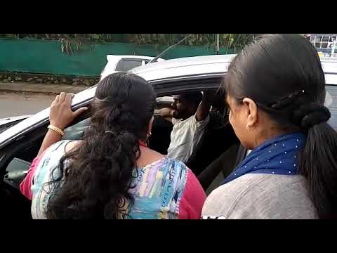 Uber drivers strike at Kochi , drivers family's came to the road