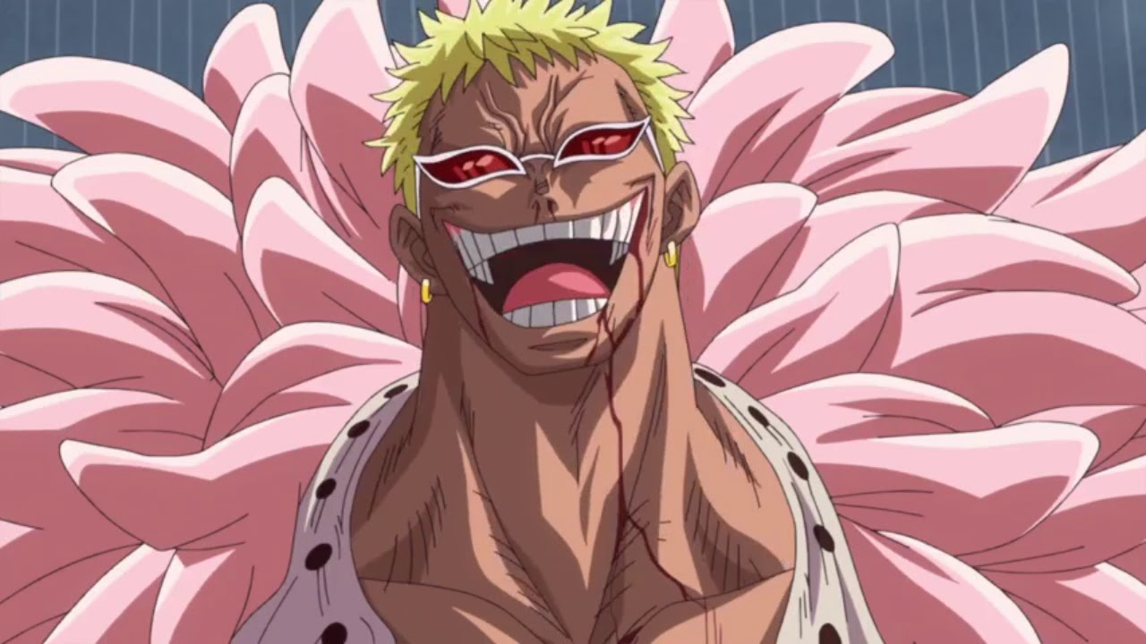 In this form or to get this form, luffy will bite his thumb and make an opening. Luffy vs Doflamingo (amv) - YouTube