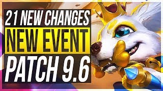 URGOT REWORK & NEW EVENT (FREE LOOT)!! - 21 New Changes & OP Champs Patch 9.6 - League of Legends