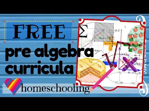 FREE Pre Algebra Curricula Homeschooling