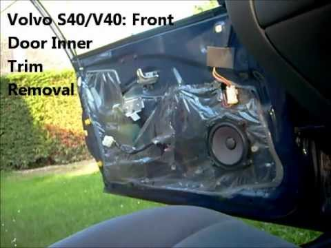 Front door inner trim removal volvo s40 v40 youtube for 2001 volvo v70 window regulator