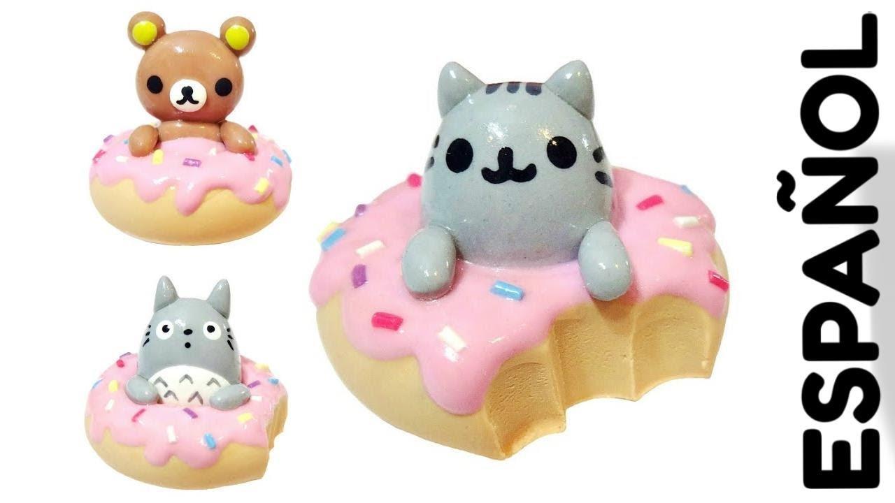Manualidades Kawaii Donas Rilakumma, Pusheen y Totoro