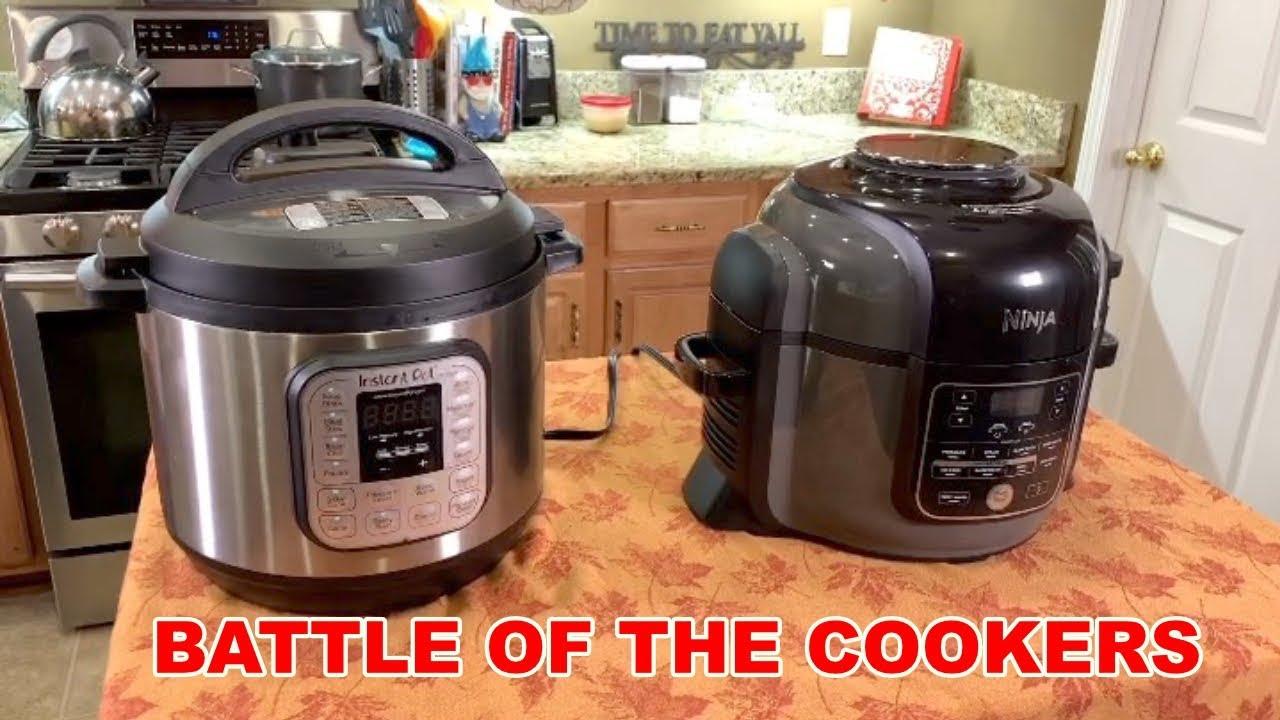Battle Of The Cookers Instant Pot Vs Ninja Foodi Youtube
