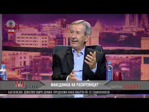 1ТВ дебата: Македонија на раскрсница - гостин Слободан Богоевски
