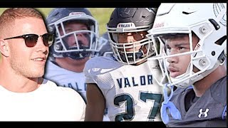Christian McCaffrey was on deck to watch  #1 Team in Colorado Valor Christian v Charlotte Christian
