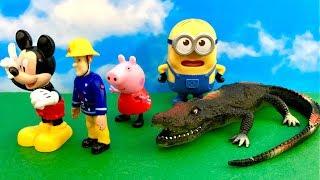Swinka Peppa, Myszka Miki, Strazak Sam i Minionki, Bajka po Polsku - Atak Krokodylka