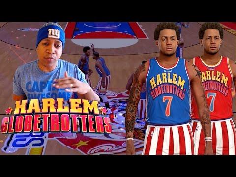 FIRST EVER HARLEM Globetrotters GAMEPLAY - NBA 2K16 ProAm