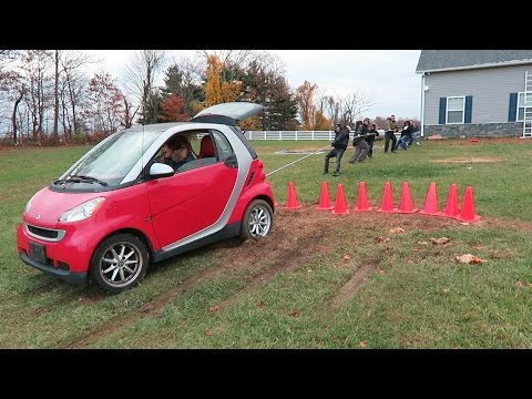 HUMANS Vs SMART CAR Challenge!!