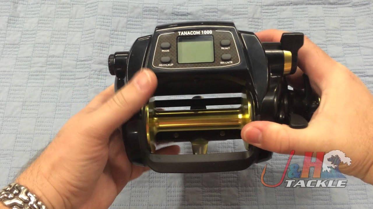 3b5df208514 Daiwa Tanacom 1000 Power Assist Electric Reel   J&H Tackle - YouTube