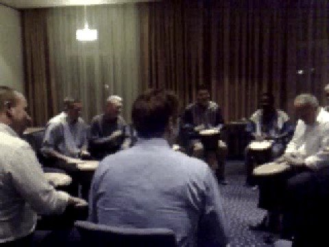 Drum Teambuilding in Europe at Copenhagen Airport Hotel