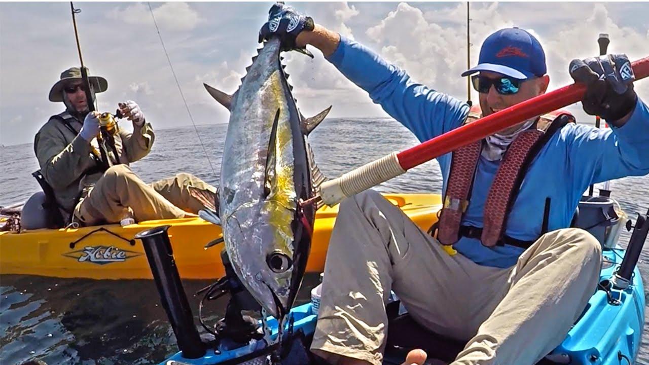 Offshore kayak fishing sailfish tuna king mackerel for Offshore kayak fishing