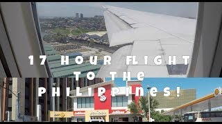 17 HOUR FLIGHT TO THE PHILIPPINES! ✈️ 🇵🇭    VLOG #17   Travel Vlog   LoGirlsThoughts