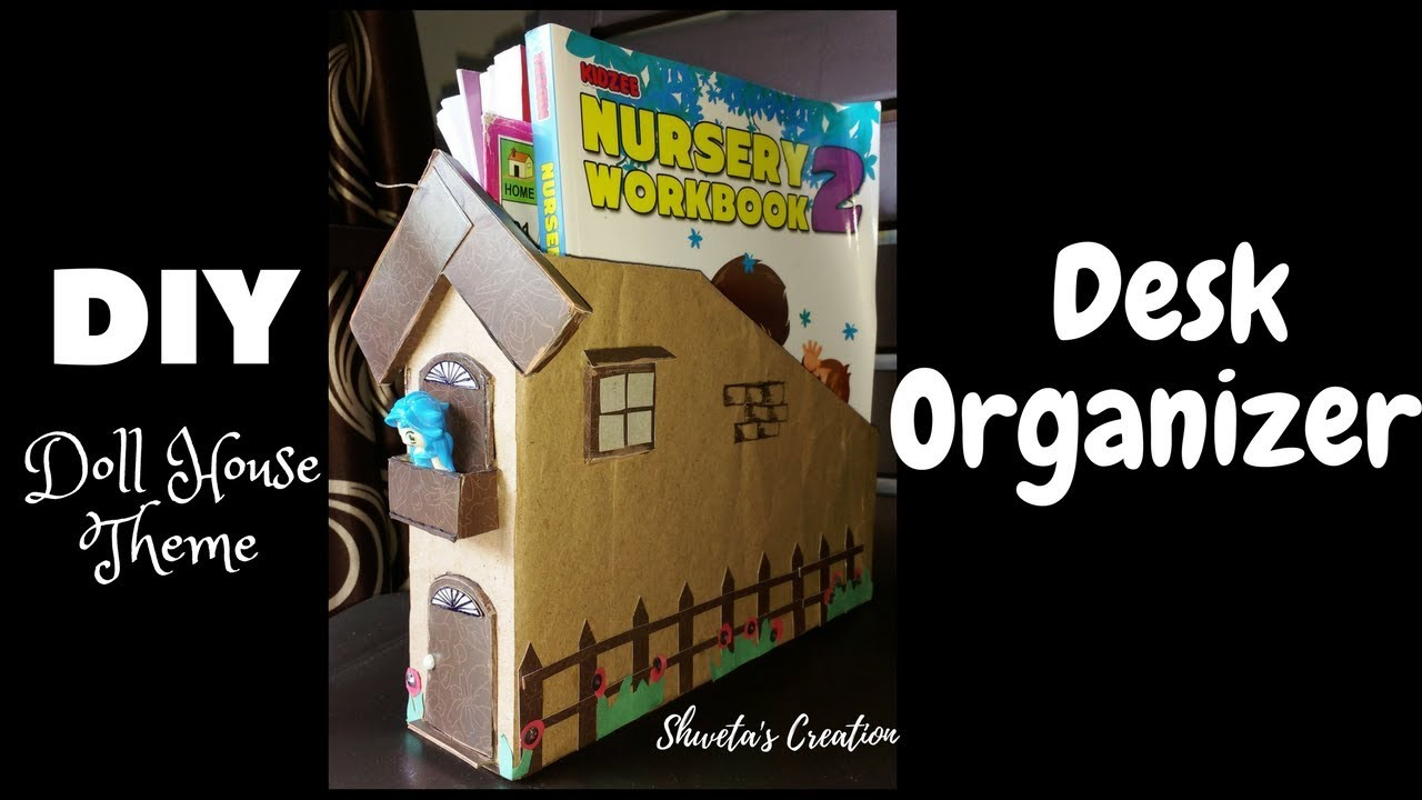 DIY Desk Organizer from Cereal Box| Best Out Of Waste | Craft Ideas Cereal Box House Designs on waffle box house, making house, cardboard box house, cracker box house,